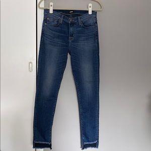 Hudson step hem jeans